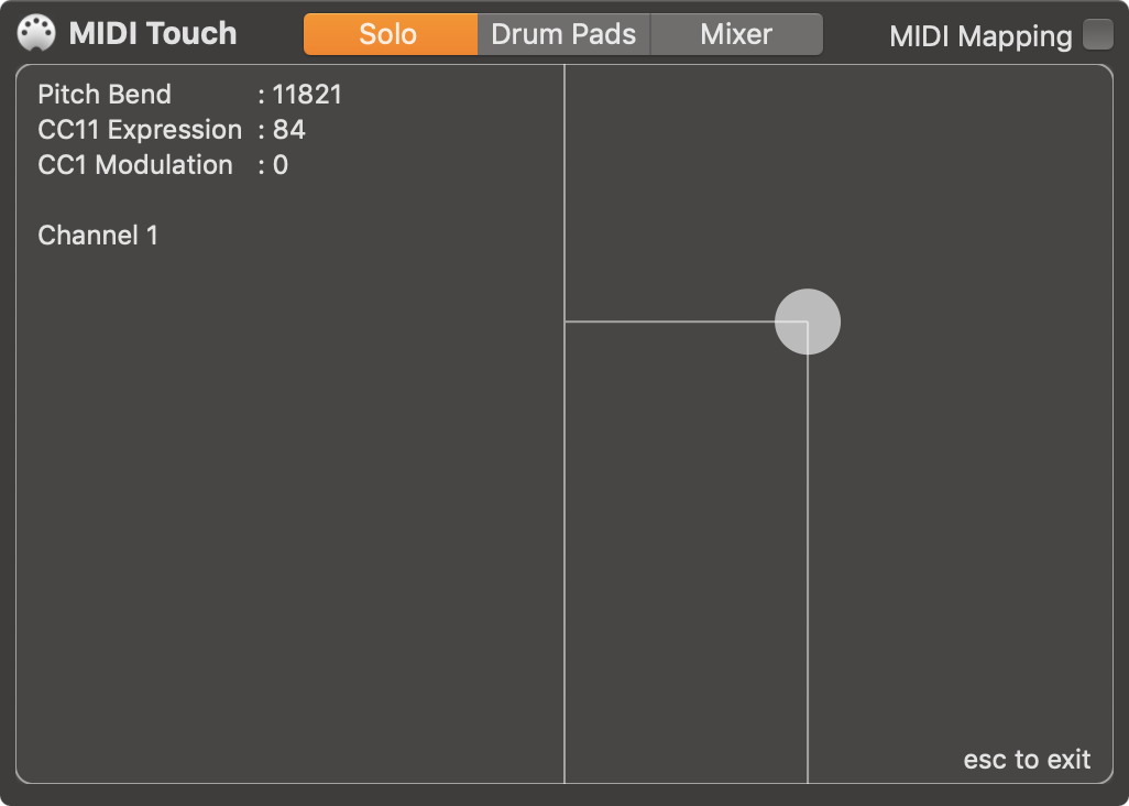 Trackpad MIDI Controller for Mac